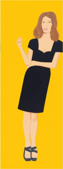 Alex Katz, 2015 - Black Dress - Cecily